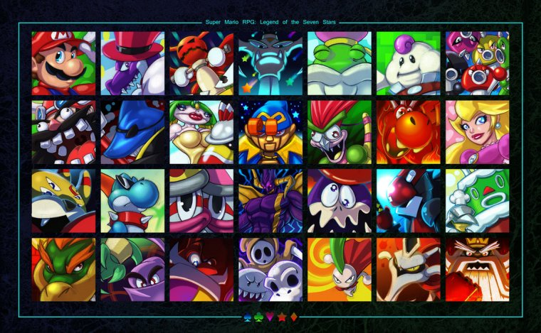 Static-E-ZeroMayhem-super-mario-rpg-legend-of-the-seven-stars-bowser-geno-mallow-peach-aexem-bowser-yoshi